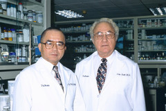 Drs. Eugene Van Scott and Ruey Yu