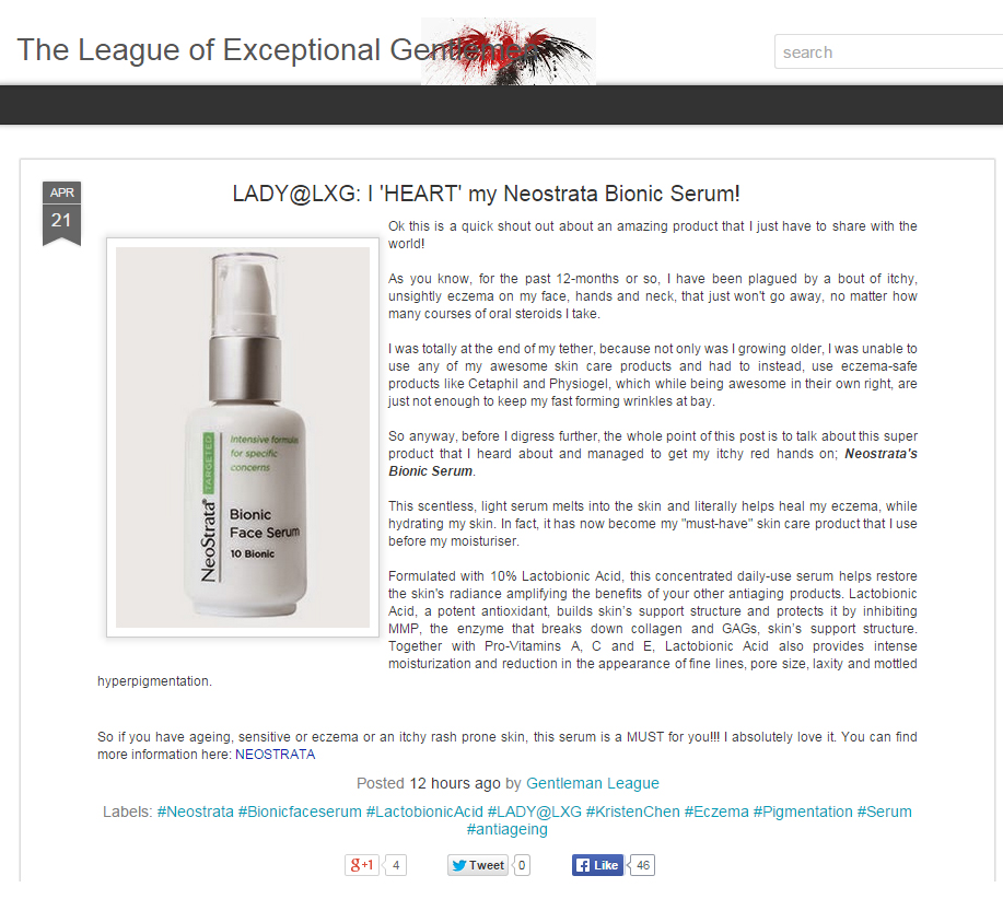 2015 04 21 - LXG Review - NST Bionic Serum